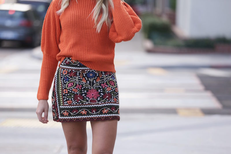 Goodnight Macaroon Embroidered Skirt