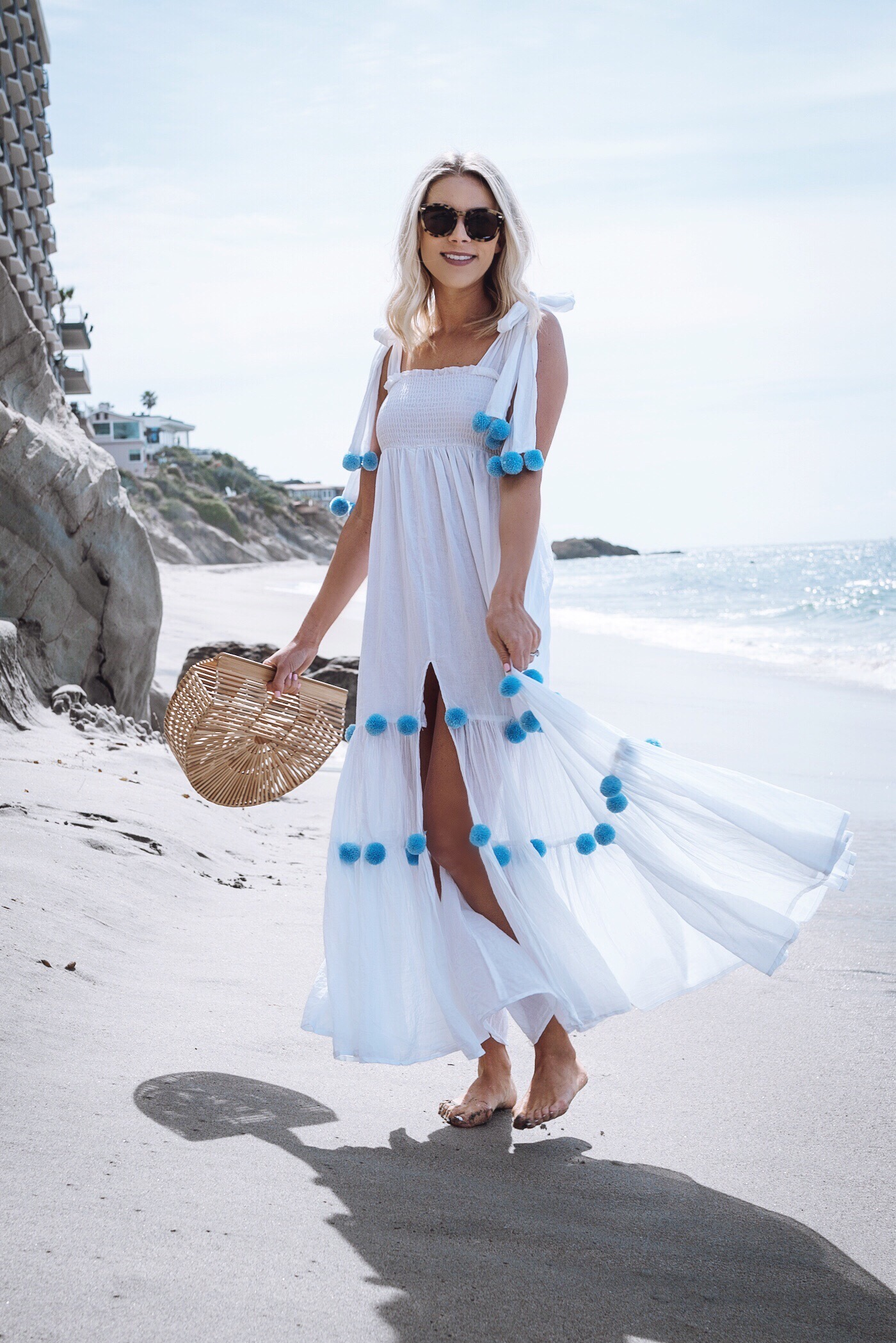 65cc3eb9f How cute is this pom pom maxi dress ! When I first came across it I knew it  would be perfect for some of the tropical beach vacations I have coming ...