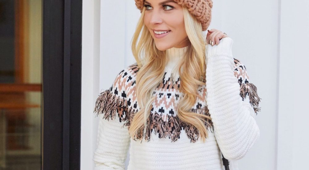 Cozy Fringe Sweater + 10 Fun Facts About Myself