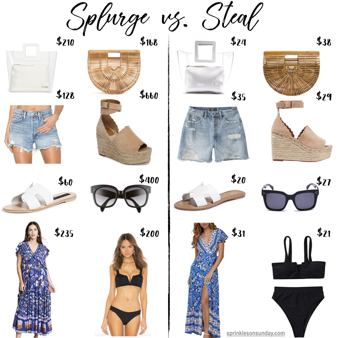 576d19ccda5 Summer Splurge vs. Steal | Sprinkles on Sunday